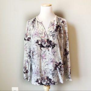 Rebecca Taylor Floral Silk Blouse Size 10
